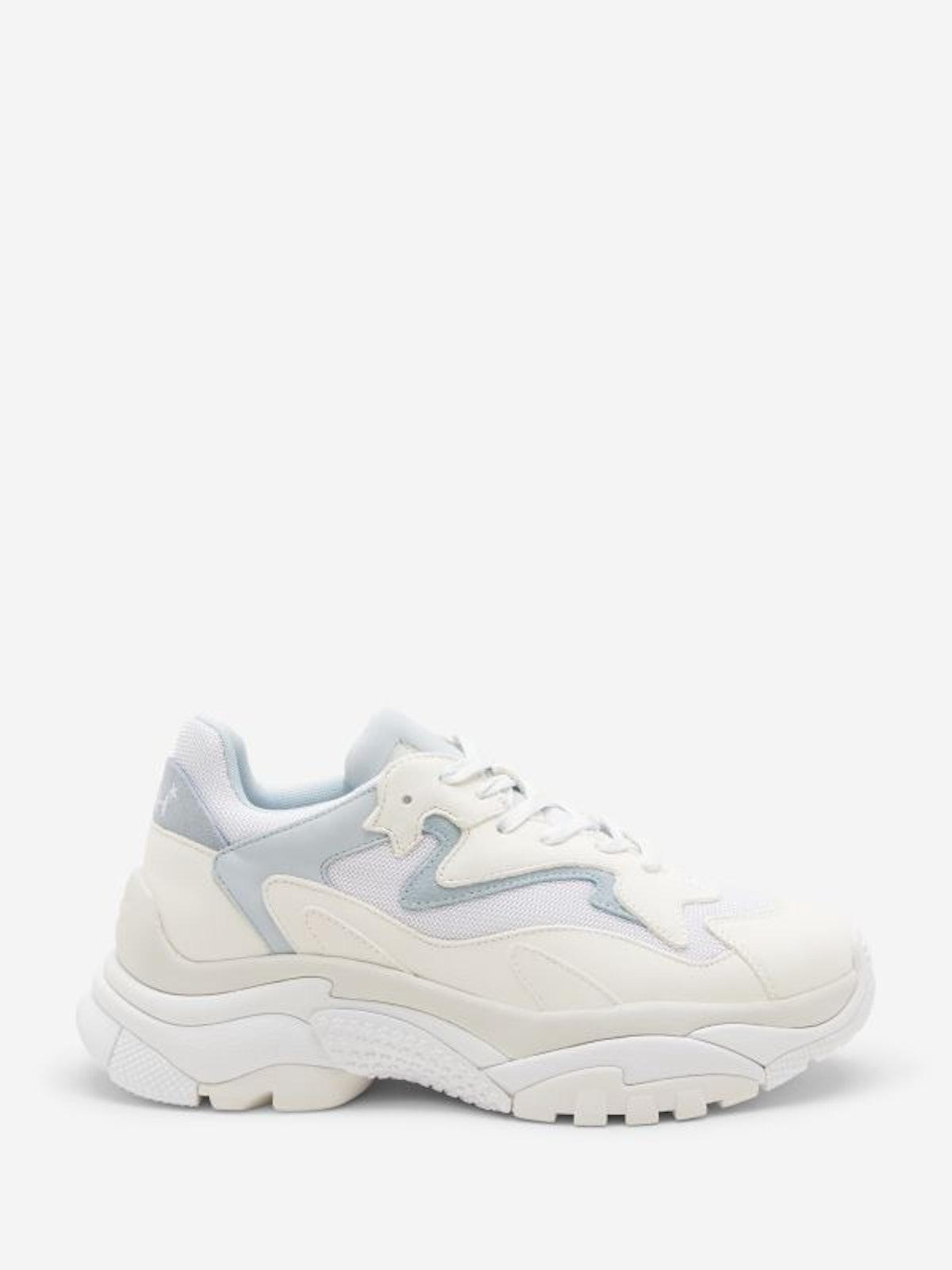 Addict Lace Up Sneakers in Pristine/White