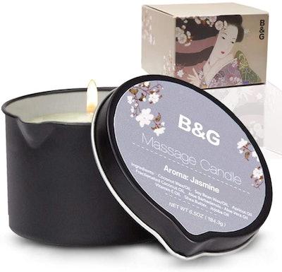 B & G Massage Candle