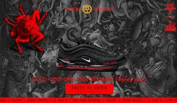 MSCHF Satan Shoe giveaway