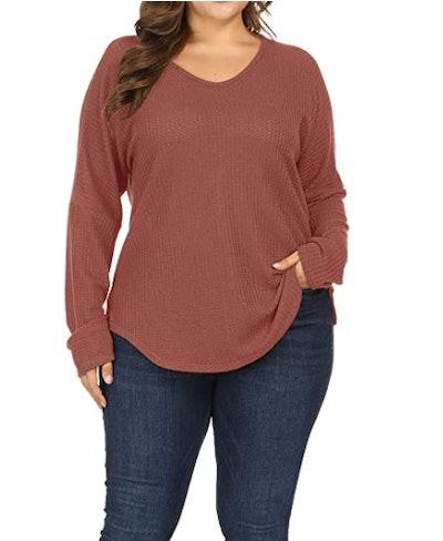 Allegrace Plus Size Lightweight Knit Sweater
