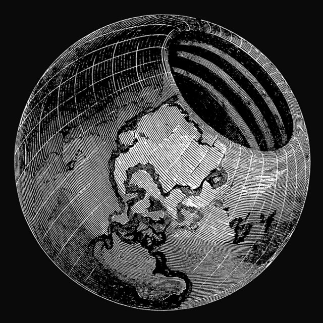 """Illustration from """"Symmes's Theory of Concentric Spheres: Demonstrating That the Earth is Hollow, Habitable Within, and Widely Open About the Poles, Compiled by Americus Symmes, from the Writings of his Father, Capt. John Cleves Symmes"""""""
