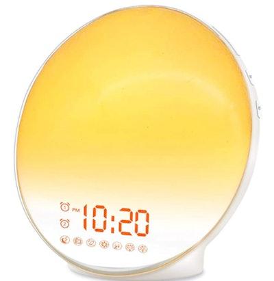 JALL Sunrise Wake Up Alarm Clock Light