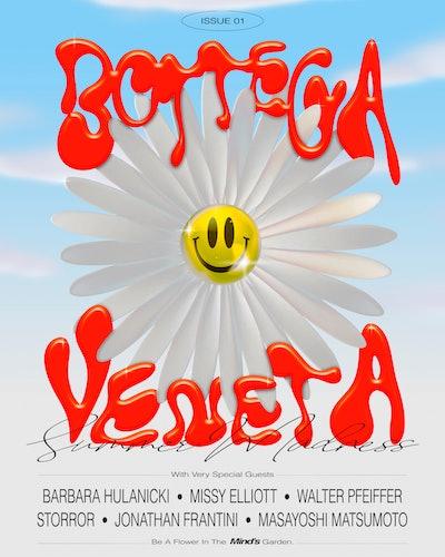 Cover of Issue 01 by Bottega Veneta.