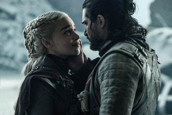 Emilia Clarke and Kit Harington in the Game of Thrones finale
