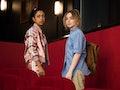 Liza Koshy as Jasmine Hale, Sabrina Carpenter as Quinn Ackerman of Work It. Cr. Brendan Adam-Zwellin...