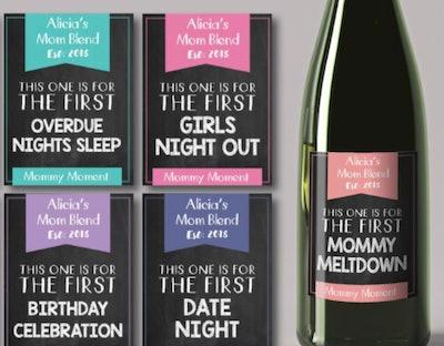 Labeledbylong New Mom Wine Labels