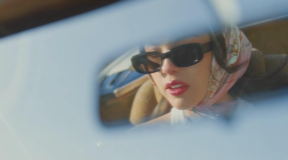 Olivia Rodrigo in the rearview mirror