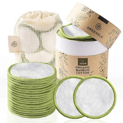 Greenzla Reusable Bamboo-Cotton Pads (20-Pack)