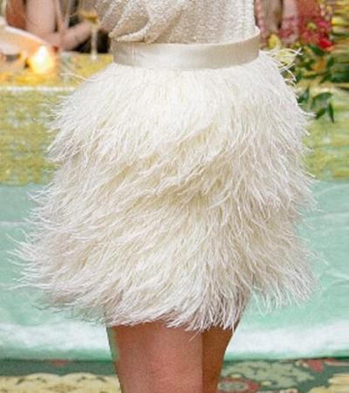 Ultamodan US High Waist Feather Skirt