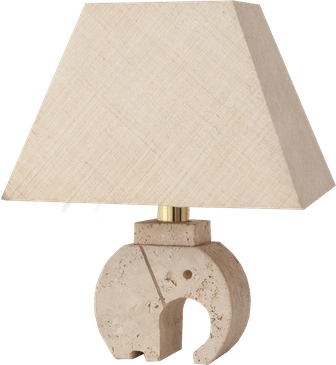 Fratelli Mannelli Travertine Elephant Table Lamp, Italy around 1970