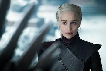 Emilia Clarke as Daenerys Targaryen in the Game of Thrones finale.