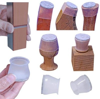 aneaseit Soft Silicone Furniture Leg Covers (16 Pack)