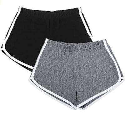 URATOT Cotton Sports Shorts (2-Pack)