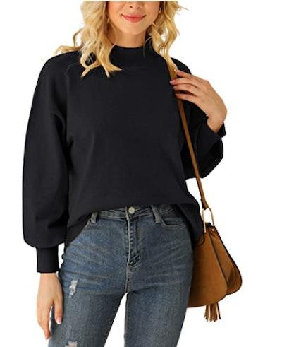 WEACZZY Drop Shoulder Knit Sweater