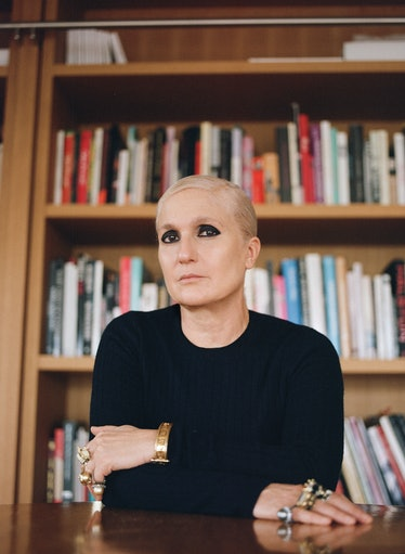 Maria Grazia Chiuri wears a Dior top; her own jewelry. Diorshow 24H Stylo in Matte Black and Diorsho...