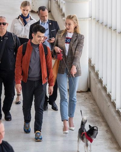 Sophie Turner and Joe Jonas are seen on June 25, 2019 in Avignon, France.