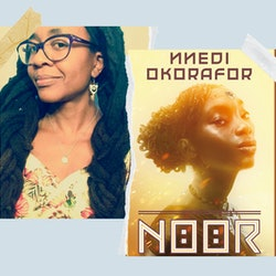 Author Nnedi Okorafor and the cover of her new book 'Noor.'