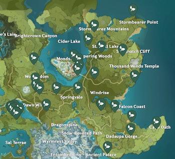 Dandelion Seeds Genshin Impact Locations