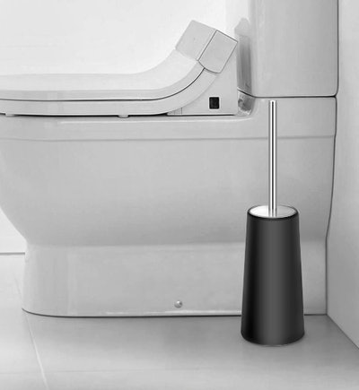 IXO Toilet Brush with Splash Guard and Holder (2-Pack)