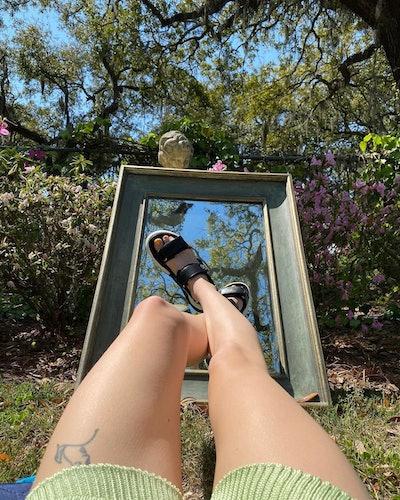 Sophie Turner wearing Louis Vuitton's Flat Archlight Sandal.