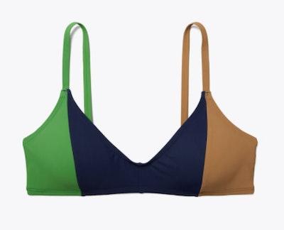 Color-blocked Bikini Top