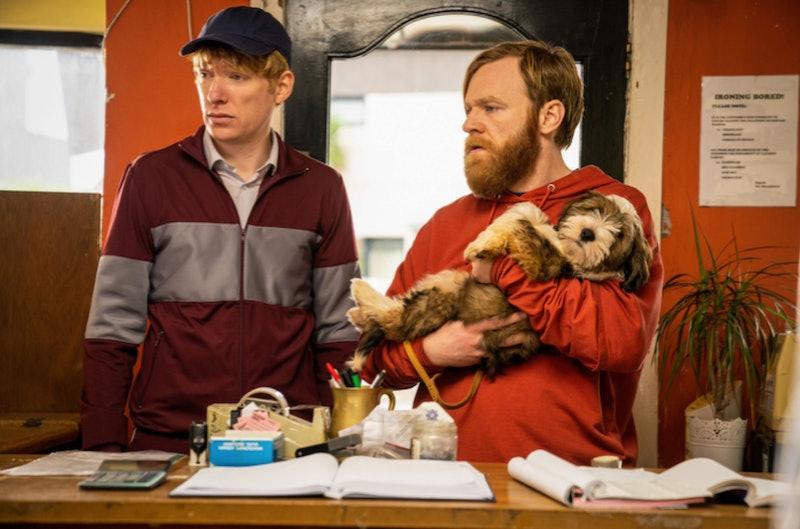 Domhnall and Brian Gleeson in 'Frank of Ireland' via Amazon Studios press site.