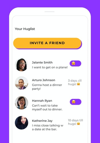 Huglist UI screenshot 1