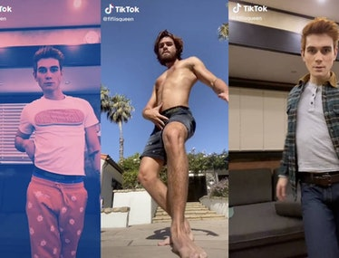 KJ Apa dances shirtless on TikTok