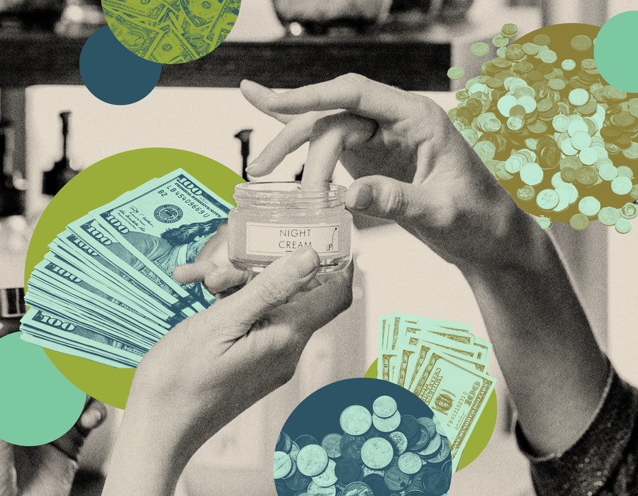 Stacks of cash and skincare products. One woman describes paying off her student loans by selling ro...