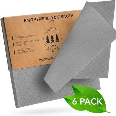 SUPERSCANDI Swedish Dishcloths (6-Pack)