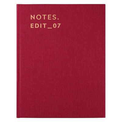 Darling Clementine Notebook Burgundy Linen Lined