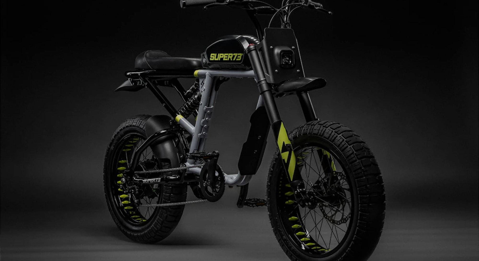 Rendering of a Super73 e-bike. Electric bicycles. Scrambler. e-bikes.