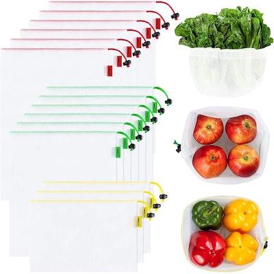 Ecowaare Reusable Mesh Produce Bags (Set of 15)