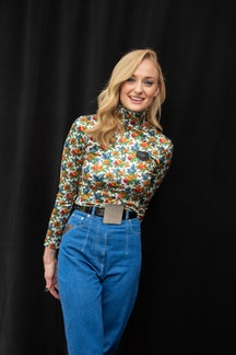 "Sophie Turner at the ""Dark Phoenix"" Press Conference at The London Hotel on March 28, 2019 in West Hollywood, California."