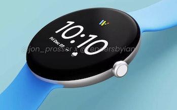 Renderings show Google's rumored Pixel Watch smartwatch.