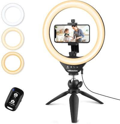 UBeesize Selfie Ring Light with Tripod