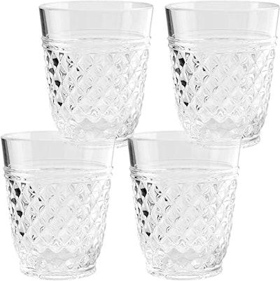 PG Drinkware 14-Ounce Acrylic Water Tumblers (Set of 4)