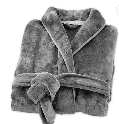 Brookstone® n-a-p® Small/Medium Bathrobe in Dark Grey