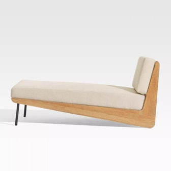 Kinney Teak Chaise with Cushion