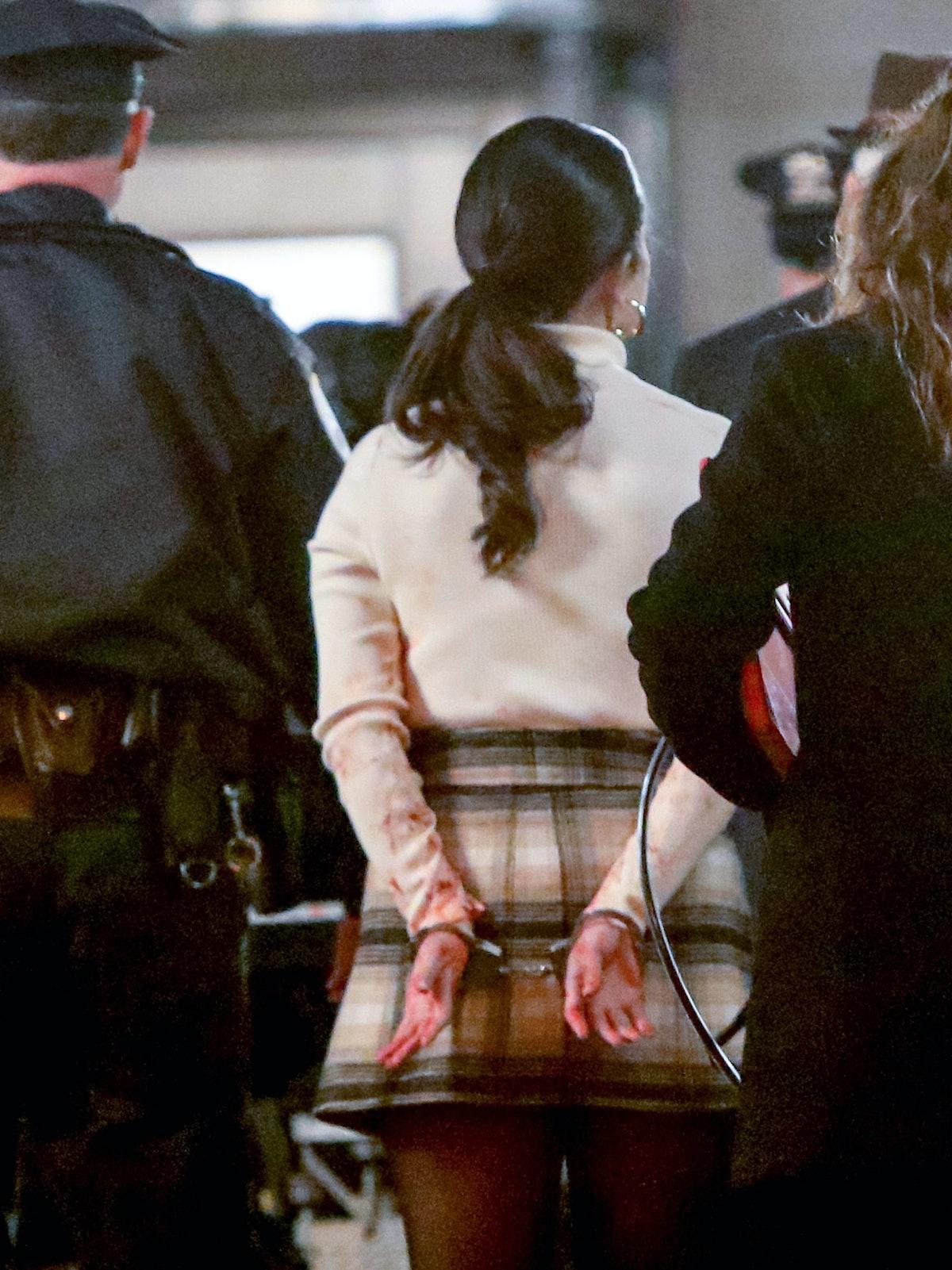 Selena Gomez in handcuffs