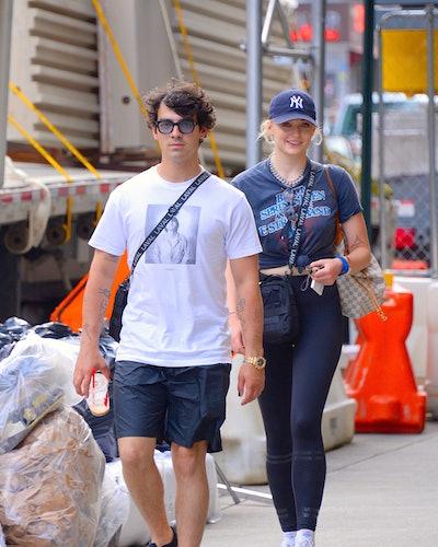oe Jonas and Sophie Turner seen out walking in Manhattan on July 24, 2018 in New York City. Robert Kamau/GC Images