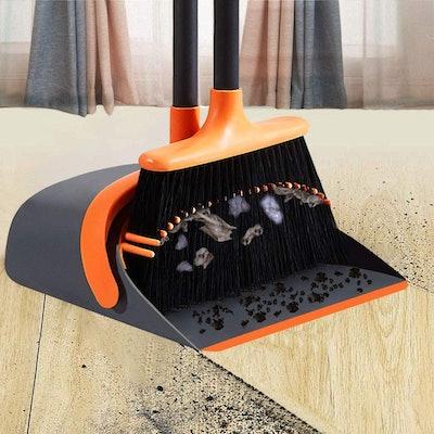 SANGFOR Dust Pan and Broom Set