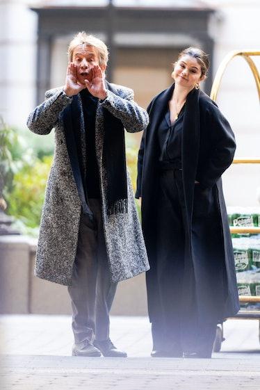 Martin Short and Selena Gomez looking goofy