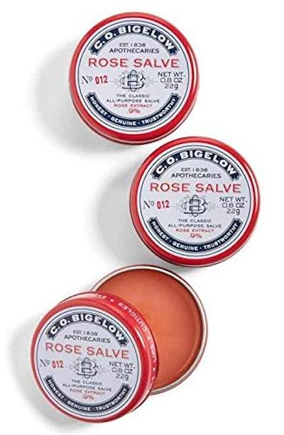 C.O. Bigelow All Purpose Rose Salve Lip Balm (3-Pack)