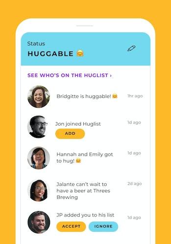 The Huglist UI screenshot 2