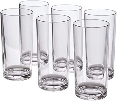 US Acrylic 16-Ounce Premium Water Tumblers (Set of 6)