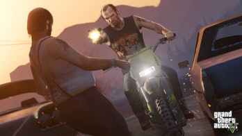 grand theft auto v trevor gun motorcycle gameplay