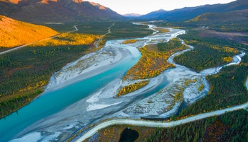 Alaska aerial footage of scenic landscape