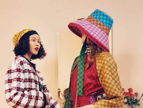 Gucci Ouverture campaign for the fashion house's GG Multicolor collection released in April 2021.