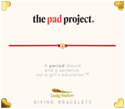 The Giving Bracelet to benefit The Pad Project